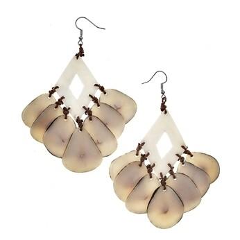 Tagua-Mystique Earrings-Ivory