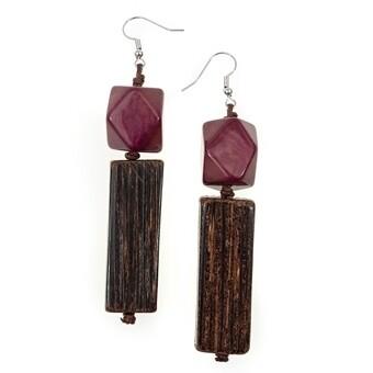 Tagua-Valentina Earrings-Purple