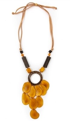 Tagua-Valentina Necklace Yellow