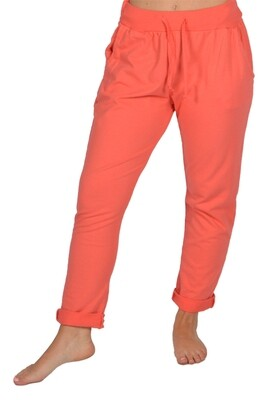 Catherine Lillywhite's-Coral Rolled Cuff Pants