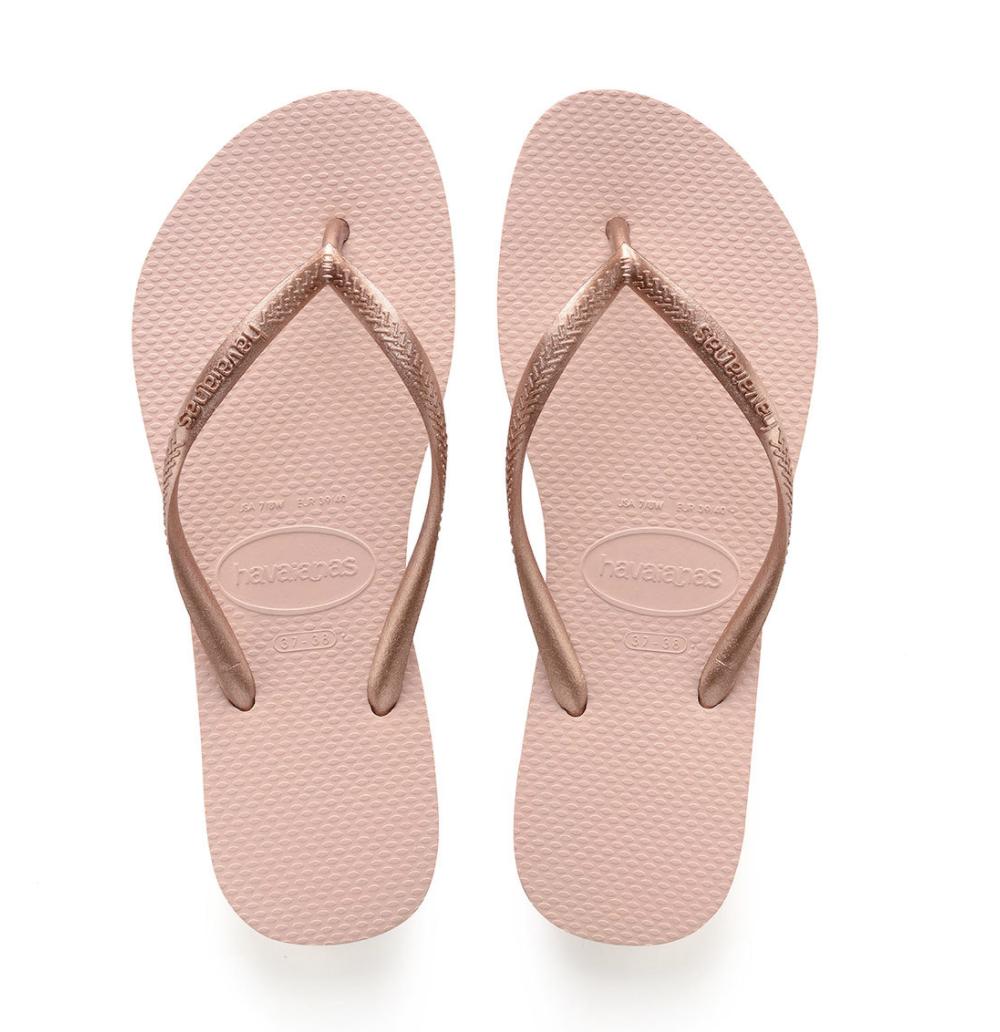 Havaianas Slim Flip Flops (Size 7/8) - Ballet Rose