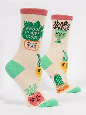 Blue Q Crew Socks - Proud Plant Mom