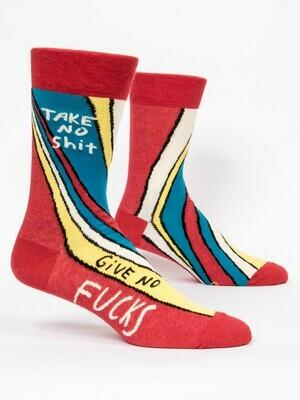 Blue Q Mens Socks - Take No Shit. Give No Fucks