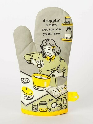 Blue Q Oven Mitt - Droppin' A Recipe on Your Ass