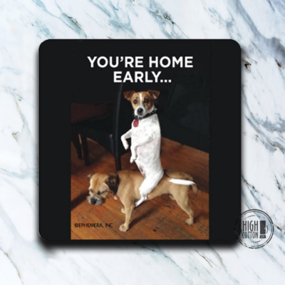 High Cotton Coasters - You're Home early