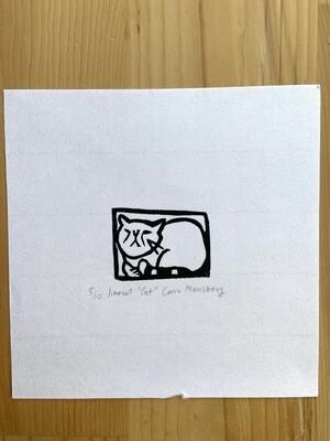 Linocut Cat