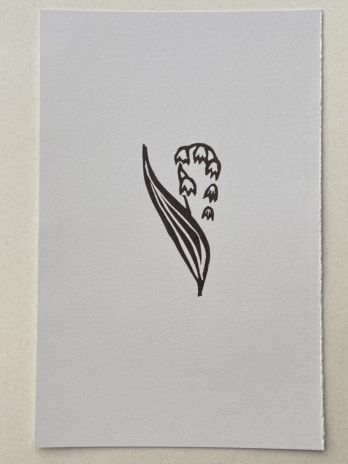 Lily Of The Valley original relief print