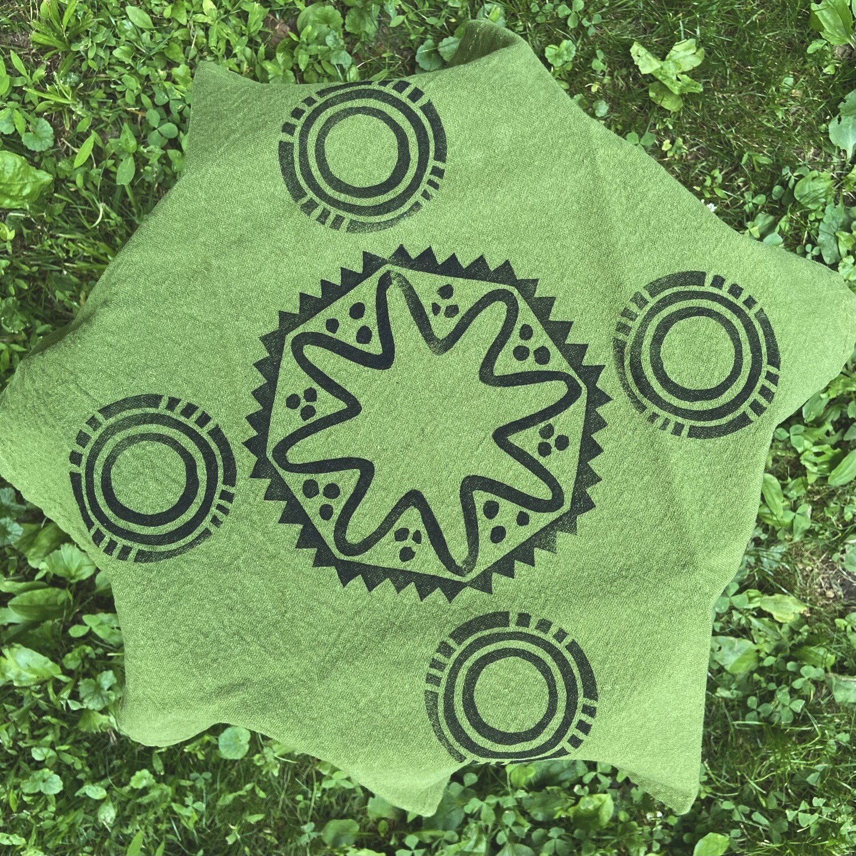 Block printed napkin Stars