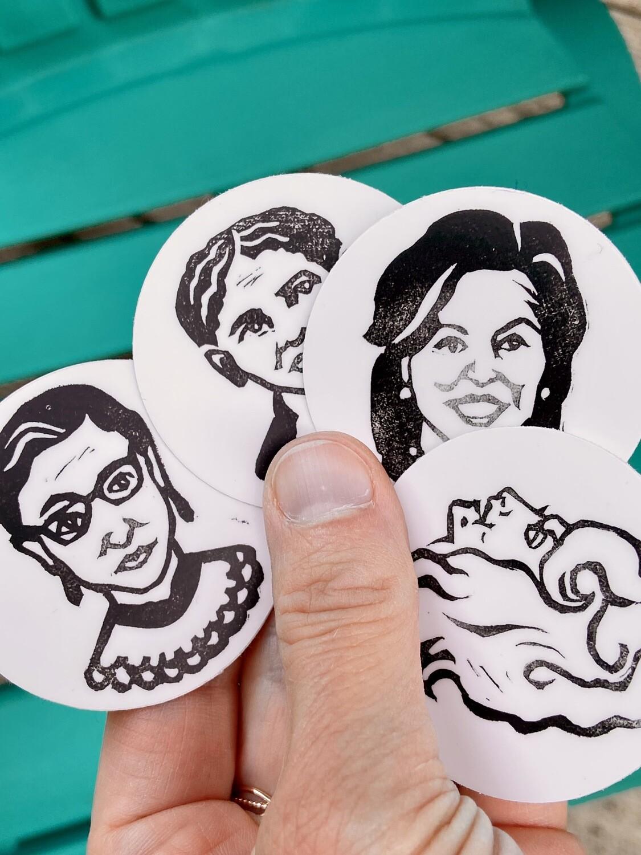 Famous Women of America sticker set