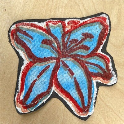 Fabric art patch lily