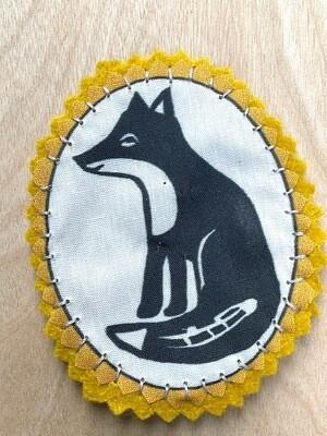 Fabric patch fox