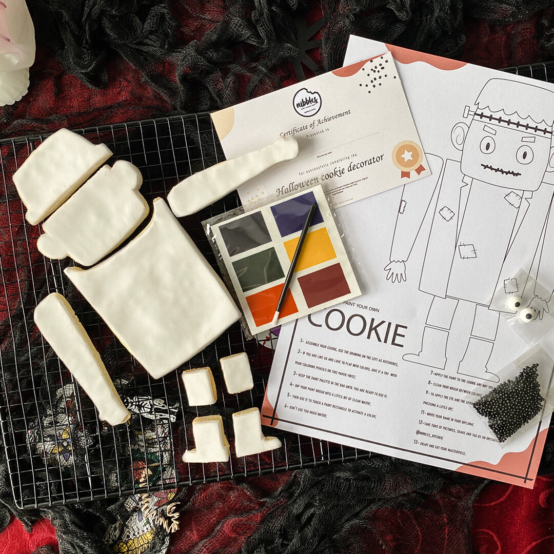 Halloween Paint Your Own cookie Kit - Frankenstein's Monster