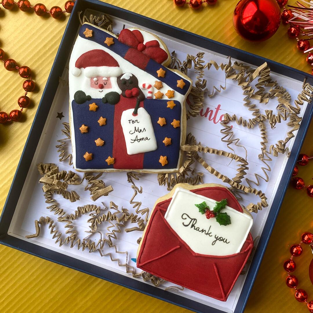 Christmas Gift Box (Teacher appreciation cookies)