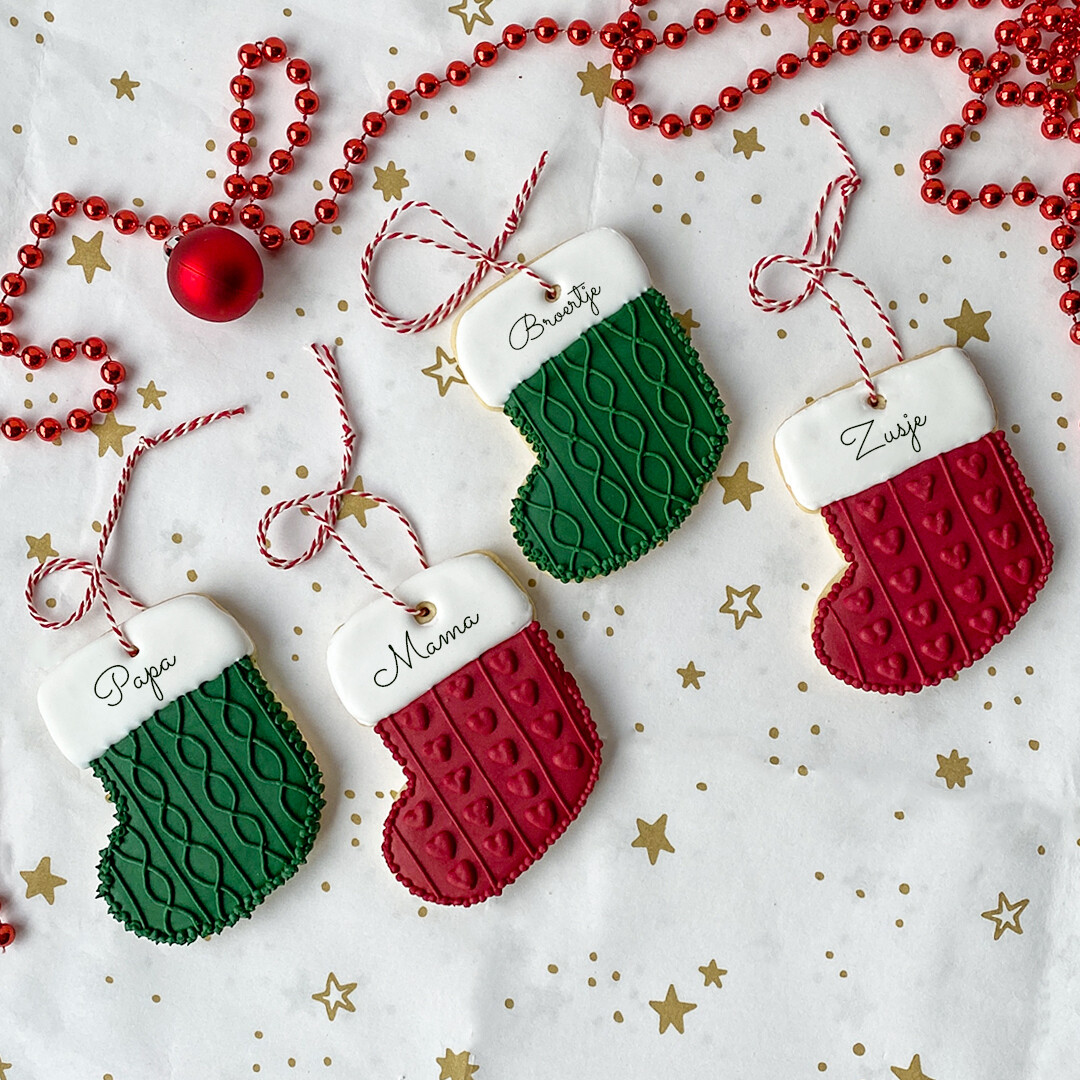 Christmas Hanging Stockings cookies