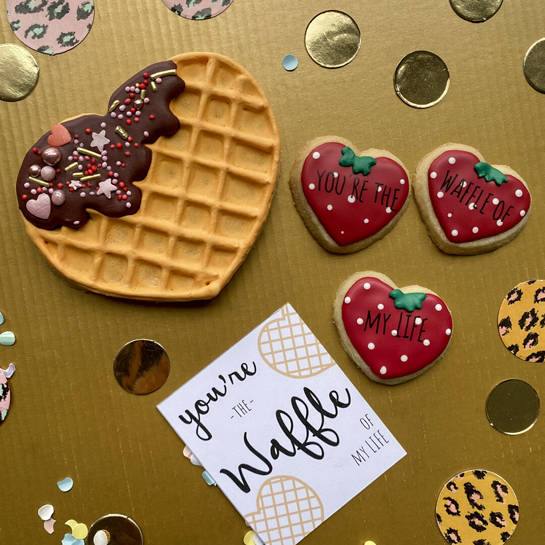 Valentine Waffle love