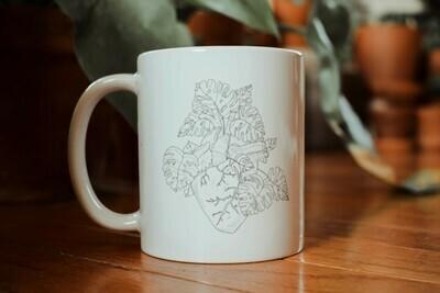 Monstera Heart Mug