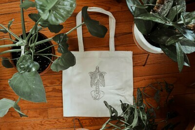 Torso of Bones Tote Bag