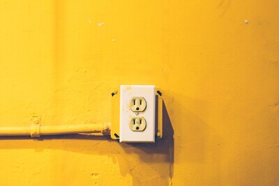 Yellow Wall + Outlet