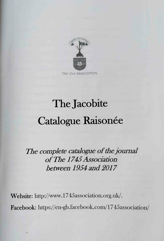 The Jacobite Catalogue Raisonée