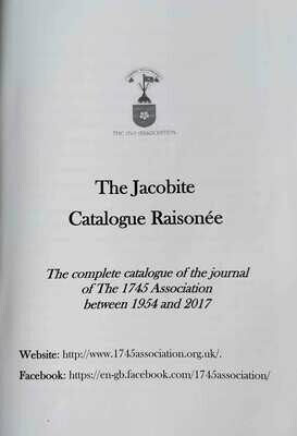 The Jacobite Catalogue Raisonée