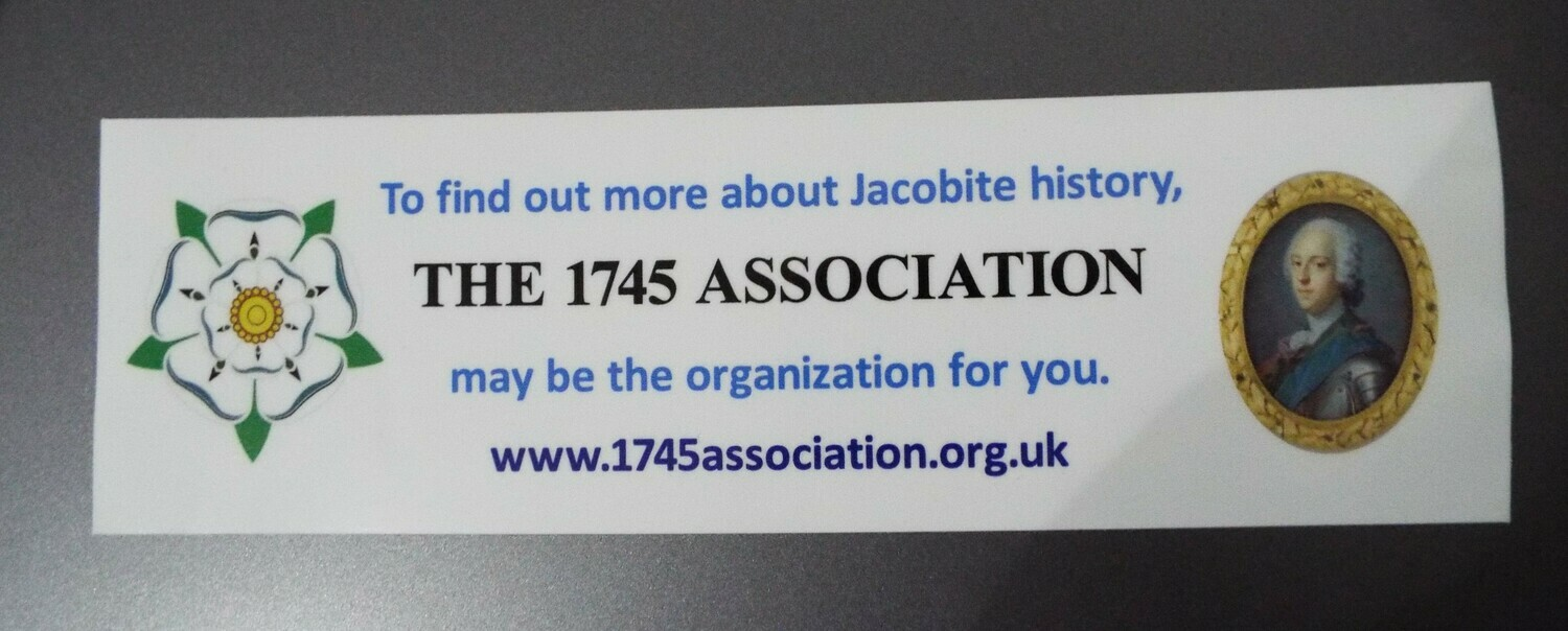 1745 Association Car Sticker