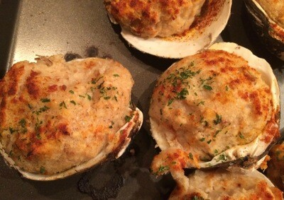 Frozen Stuffed Clams 5oz - Jordan Brothers Seafood  **note ordering deadline**