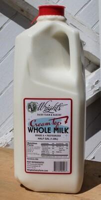 Whole Milk - half gallon