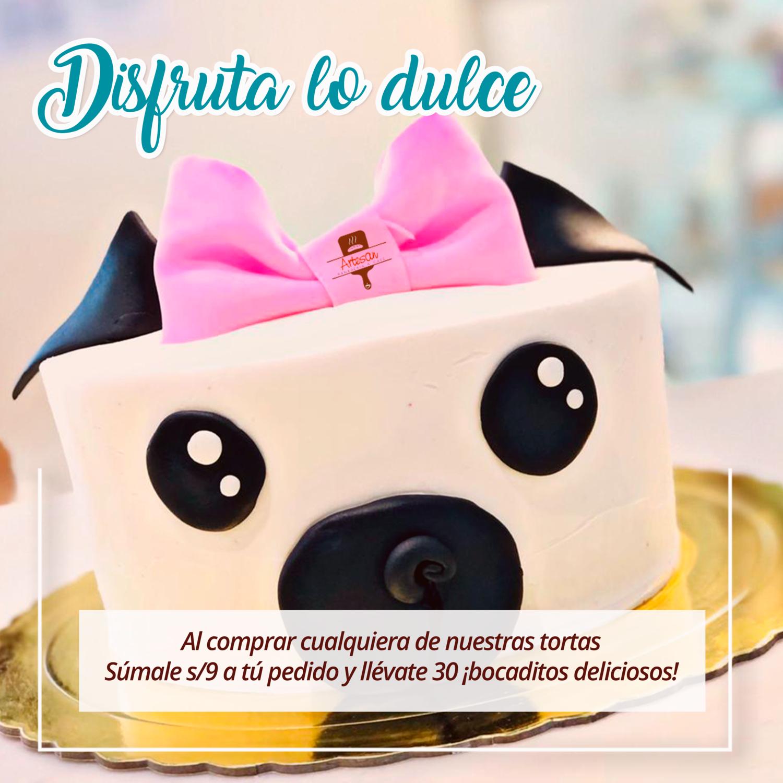 Disfruta lo dulce - Por la compra de una torta, elige 2 opciones de bocaditos