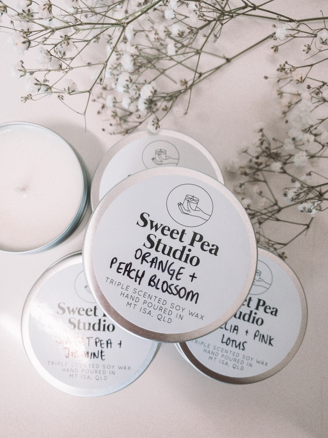 Sweet Pea Studio Travel Size Scented Candle