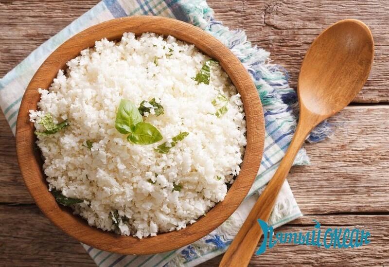 Рис с печеным чесноком и зеленью, 100 гр