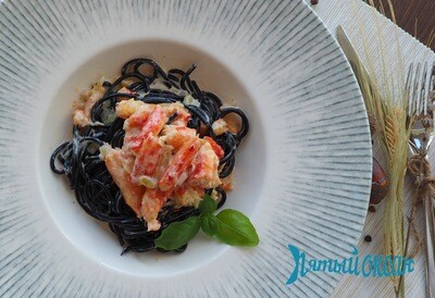 Спагетти с крабом, 250 гр