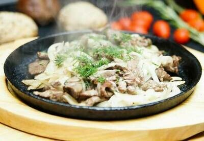 Мясо по-охотничьи: свинина, 250 гр