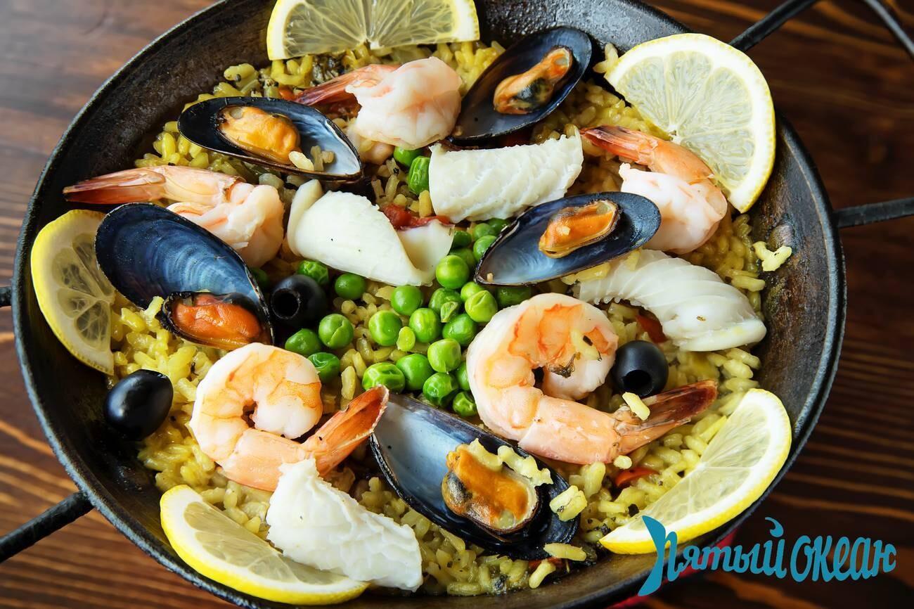 Паэлья с морепродуктами, 1000 гр / 500 гр