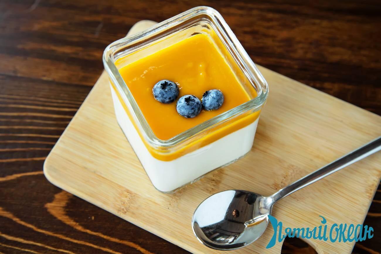 Панна Котта с манго, 200 гр.