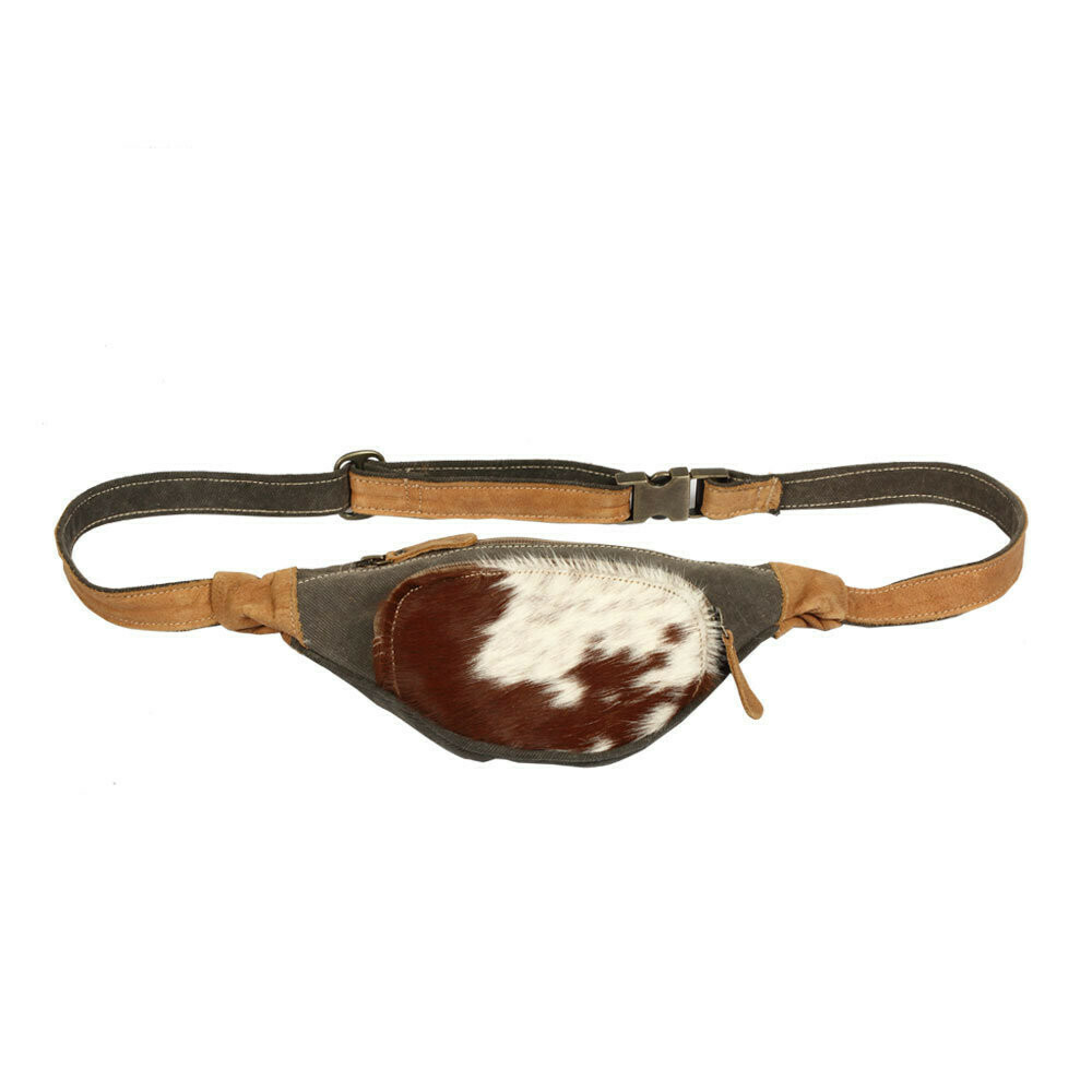BROWN & GREY FANNY PACK