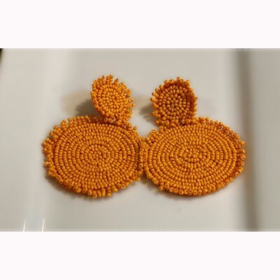SEEDS OF ORANGE EARRINGS