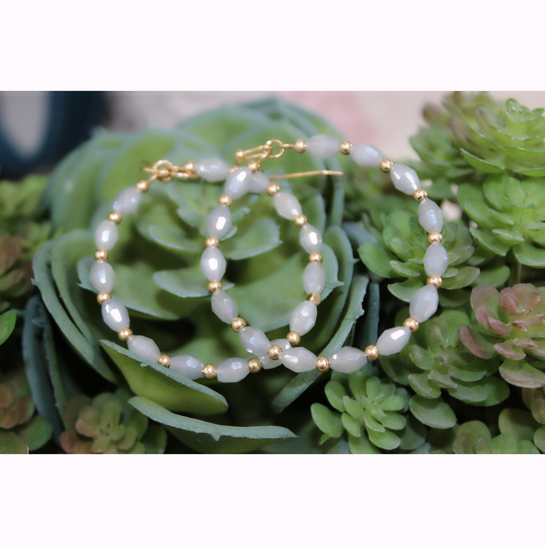 Seaside Stone Circle Earrings
