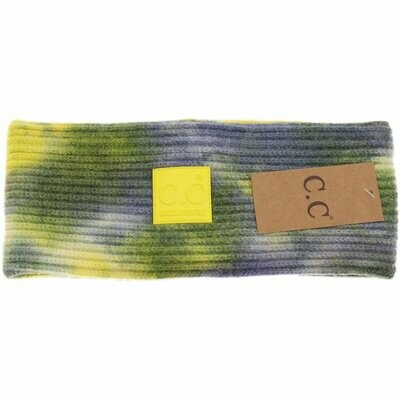 TIE DYE HEAD WRAP WITH RUBBER PATCH