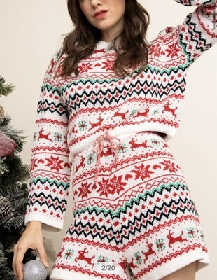 HOME FOR THE HOLIDAYS 2PC SHORT SET