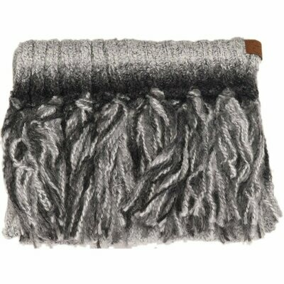 OMBRE KNIT SCARF WITH FRINGE