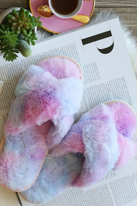 CREATE YOUR OWN RAINBOW SLIPPERS