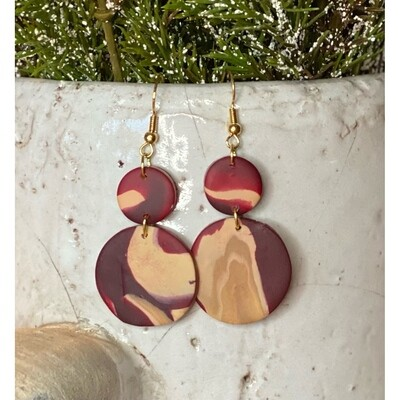 BURGUNDY CLOUD EARRINGS