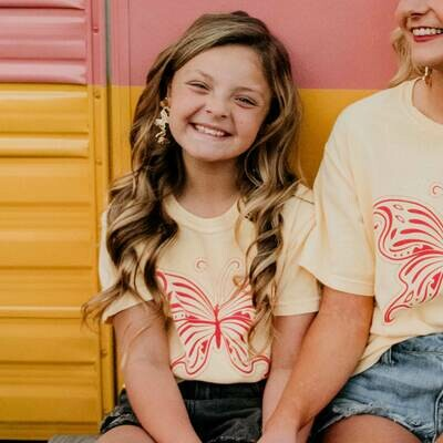 YOUTH LOVE IS LIKE A BUTTERFLY DOLLY INSPIRED TEE