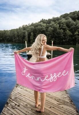 TENNESSEE SCRIPT BEACH TOWEL-SMT