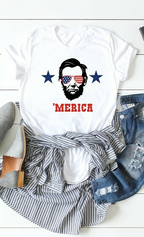 MERICA' ABE LINCOLN GRAPHIC TEE
