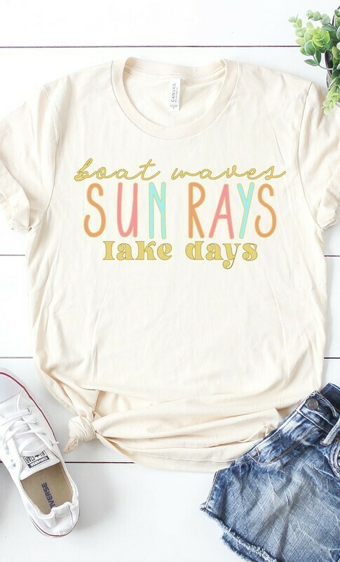 BOAT WAVES SUN RAYS LAKE DAYS TEE
