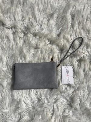 Grey Blue Riley Crossbody/Wristlet