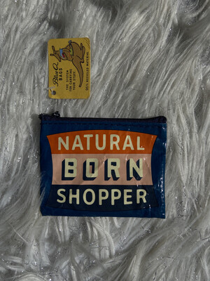 BlueQ Natural Born Shopper Coin Bag