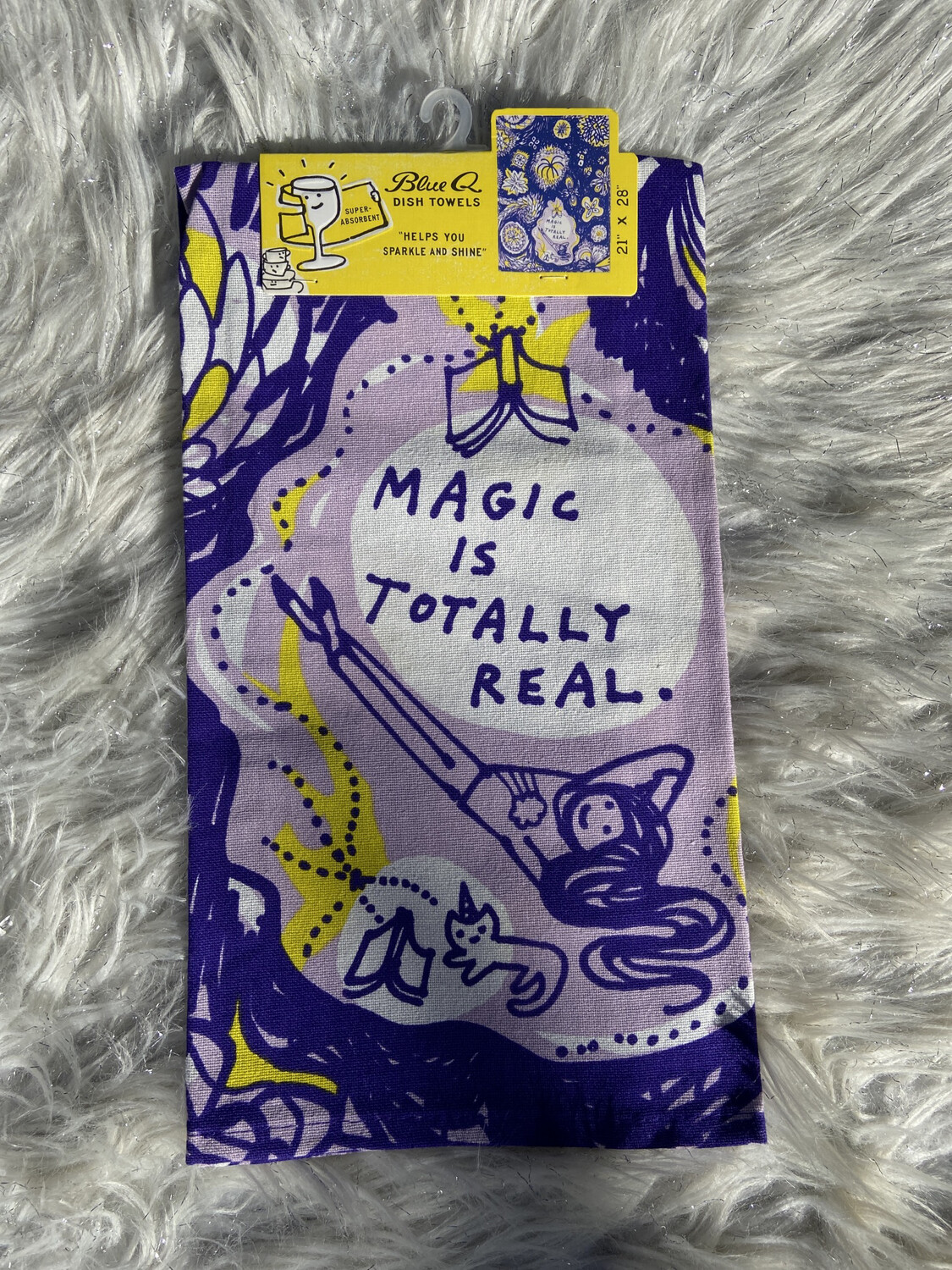 BlueQ Magic Is Totally Real Dish Towel