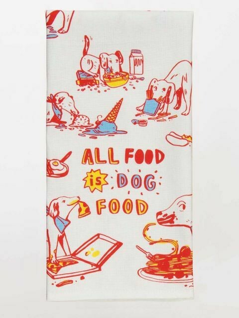 BlueQ All Food Is Dog Food Dish Towel